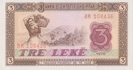 Albanie / 3 Lek / 1976 / P-41(a) / UNC - Albania