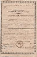 Bouches Du Rhône , Ardèche, Certificat De Bonne Conduite 1848 - Documents Historiques