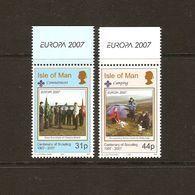 """MAN, Isla De   -EUROPA  2007-"""" A CENTENARY SCOUT -EUROPA-CEPT""""- SERIE De 2 V. - Europa-CEPT"""