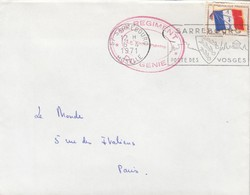 LETTRE. FM. 34° REGIMENT DU GENIE SARREBOURG 1971  / 2 - Marcofilie (Brieven)