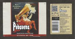 ITALIA - Etichetta Birra Beer Bière PEDAVENA Con Luppolo In Fiore, Riproduzione Di Etichetta Del 1940 - Birra