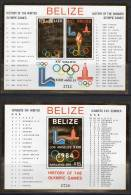 BELIZE - 1981 - 2 BLOCS N°26/7 ** Avec Bordure OR - JEUX OLYMPIQUES - Belize (1973-...)