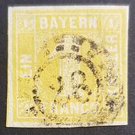 Old Germany, Bayern, 1850-1862, 1 Kr, Franco, Allemagne, Used - Bavaria