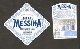 ITALIA - Etichetta Birra Beer Bière MESSINA Cristalli Di Sale (veliero) - Birra