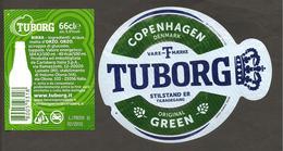 DANIMARCA - Etichetta Birra Beer Bière TUBORG Green - Birra