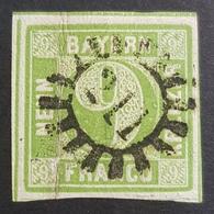 Old Germany, Bayern, 1850-1862, 9 Kr, Franco, Allemagne, Used - Bavaria