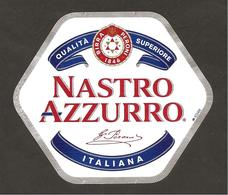 ITALIA - Etichetta Birra Beer Bière NASTRO AZZURRO - Birra