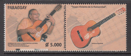 2015 Paraguay Spanish Guitars Music Complete Pair  MNH - Paraguay