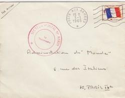 LETTRE. FM.  SECTEUR POSTAL N° 87.629 POSTE AUX ARMEES 1965  / 2 - Marcophilie (Lettres)