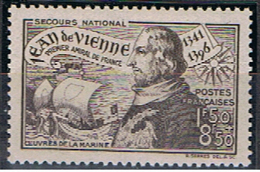 (1F 24) FRANCE // YVERT 544 // JEAN DE VIENNE // 1942    NEUF - France