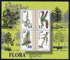 SLOVENIA 1998 Coniferous Trees Block  MNH / **.  Michel Block 7 - Arbres
