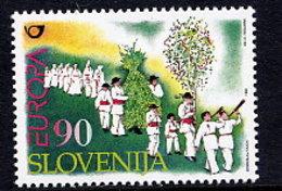 SLOVENIA 1998 Europa: National Festivals  MNH / **.  Michel 225 - Slovenia