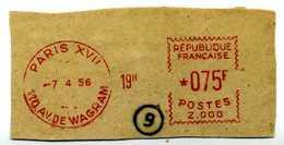 EMA Meter Prototype Prototyp SATAS Z.000 Sur Fragment RARE - Marcophilie (Lettres)