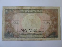 Rare! Romania 1000 Lei 1943 Banknote Fake Era/faux /fals De Epoca - Romania