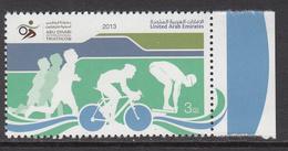 2013 United Arab Emirates Triathlon Tournament Cycling Swimming   Complete Set Of 1  MNH - Emirati Arabi Uniti