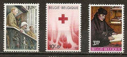 Belgique Belgium Surtax Stamps With Croix-rouge Erasmus Red Cross MNH ** - Postzegels