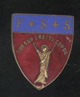 Badge De Boutonnière à Identifier - F + S + S - Sursum Erecto Corde - Emaillé - Religion &  Esoterik