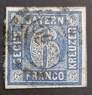 Old Germany, Bayern, 1850-1862, 6 Kr, Franco, Allemagne, Used - Bavaria