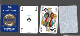 Jeu De 54 Cartes à Jouer Playing Cards Complet Avec 2 Jockers NEUF GRIMAU Special CERCLE EXPORT 19 - Cartes à Jouer Classiques