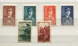 Timbres France YT 470 à 475 (*) 1940-41, Maréchal Pétain & Aux Prisonniers De Guerre (côte 4,20 Euros) – 103 - Unused Stamps