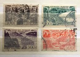 Timbre France Poste Aérienne YT PA 24 25 26 27 (°) 1949 Lille Bordeaux Lyon Marseille (côte 21,5 Euros) – 316b - Aéreo