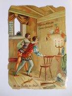 B0085c - Chromo Découpi CHOCOLAT POULAIN - N° 10 LA BICHE AU BOIS - Victorian Die-cuts