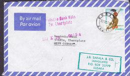 Zambia Air Mail Par Avion J.B. SAKALA & Co. (Advocates) LUSAKA 1982 Cover Brief DEUTSCHE BANK Köln Germany - Zambia (1965-...)