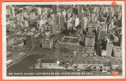BRASILE - BRASIL - 1964 - 4 Stamps - PORTO ALEGRE - Est. R.G. Do Sul - Vista Aérea Do Cais ( Ed. Foto Postal Colombo Nº - Porto Alegre