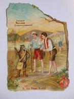 B0084c - Chromo Découpi CHOCOLAT POULAIN - N° 5 LE CHAT BOTTE - Victorian Die-cuts