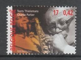 TIMBRE NEUF DE BELGIQUE - LE MUSICIEN DE JAZZ CHARLIE PARKER N° Y&T 2959 - Music