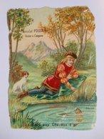 B0086a - Chromo Découpi Gaufré CHOCOLAT POULAIN - N° 3 LA BELLE AUX CHEVEUX D'OR - Victorian Die-cuts