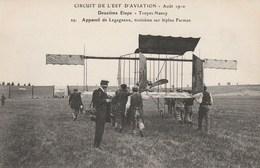 Circuit De L'Est D'Aviation 1910 - 2ème étape - Troyes - Nancy - Appareil De Legagneux, 3ème Sur Biplan Farman - Meetings