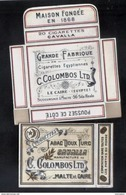SULTAN  C.COLOMBOS LTD.CAIRO MALTA  PACKET OF 20 CIGARETTE - 1910 VERY RARE - - Empty Cigarettes Boxes