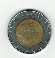 Italien 1989 // 500 Liere // Umlaufmünze - 1946-… : République