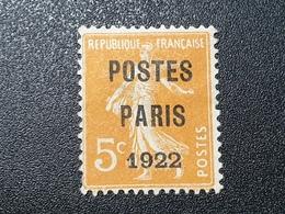 Préoblitéré N° 30 Etat Oblitéré (Neuf Sans Gomme)  TB - 1893-1947