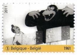 Belgium 2011 COB 4167 Mi. 4213 MNH, Tintin, The Black Island (Animation 1961), Kuifje Tim Ranko Gorilla Monkey - Comics