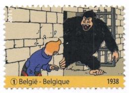 Belgium 2011 COB 4168 Mi. 4214 MNH, Tintin, The Black Island (Album 1938), Kuifje Tim Ranko Gorilla Monkey - Comics