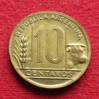 Argentina 10 Centavos 1945 KM# 41 *V2  Argentine Argentinie - Argentina