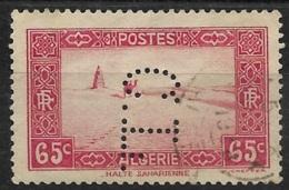 Algérie-N°113A Perforé C.L. -Ancoper C.L. 13 - France