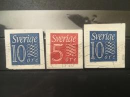 FRANCOBOLLI STAMPS SVEZIA SVERIGE 1957 USED SU FRAMMENTO NUMERAL STAMP SWEDEN FRAGMENTF - Svezia