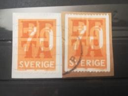 FRANCOBOLLI STAMPS SVEZIA SVERIGE 1967 USED SU FRAMMENTO EFTA SWEDEN FRAGMENTF - Svezia