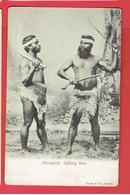 AUSTRALIE ABORIGINAL FIGHTING MEN BOOMERANG COMBATTANTS ABORIGENES CARTE EN BON ETAT - Aborigines