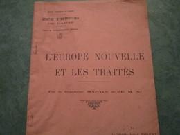 Centre D'Instruction De DAMAS - L'EUROPE NOUVELLE ET LES TRAITES Par Le Capitaine MARTIN (64 Pages) - Documenti