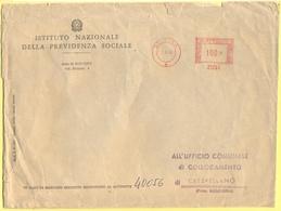 ITALIA - ITALY - ITALIE - 1968 - 100 EMA,Red Cancel - Istituto Nazionale Della Previdenza Sociale, INPS - Viaggiata Da B - Affrancature Meccaniche Rosse (EMA)