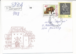 Registered Domestic Cover - 10 April 1996 Marijampolė - Lituania