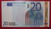 20 EURO R030C1 Draghi Netherlands Serie P39 Perfect UNC - EURO
