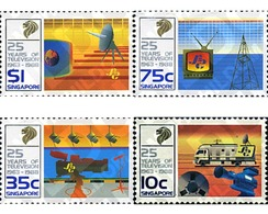 Ref. 43541 * MNH * - SINGAPORE. 1988. 25th ANNIVERSARY OF TELEVISION . 25 ANIVERSARIO DE LA TELEVISION - Transports