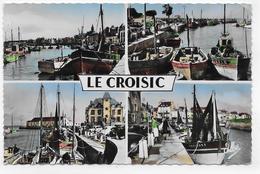 LE CROISIC - MULTIVUES - LES BATEAUX DE PECHE - FORMAT CPA VOYAGEE - Le Croisic