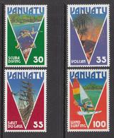 1986 Vanuatu Scuba Diving  Complete Set Of 4 MNH - Vanuatu (1980-...)