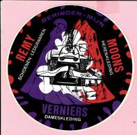 Sticker - BERINGEN-MIJN - REMY Schoenen Lederwaren - MOONS Herenkleding - VERNIERS Dameskleding - Autocollants